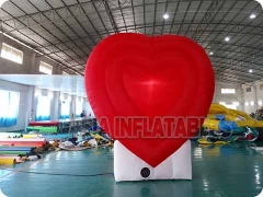 Custom Red Inflatable Heart Model