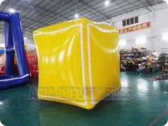 Yellow Inflatable PVC Cube Balloon
