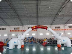 Individualized Inflatable Elephant Arch