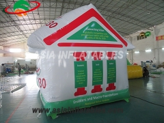 Inflatable tent house shape