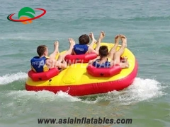 Customized 3 Person Inflatable Water Sports Jet Ski Towable Ski Boat Tube on Sales