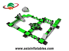 Customized Floating Water Park Inflatable Aqua Playground for Sea. Top Quality, 3 Years Warranty.