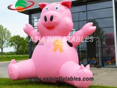 New Arrival Giant Cartoon  Inflatable Pig For Congratulations
