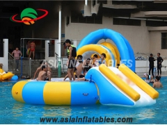 Water Trampoline Combo With Slide