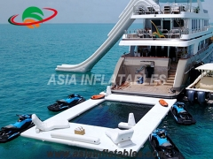 Floating Ocean Swimming Inflatable Pool Yacht